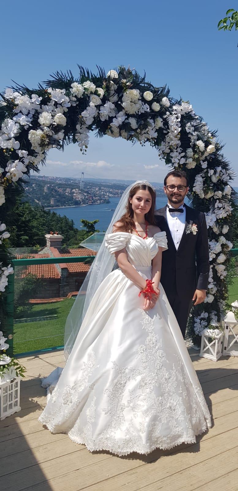 Merve Arıkan ile Ahmet Cemil evlendiler