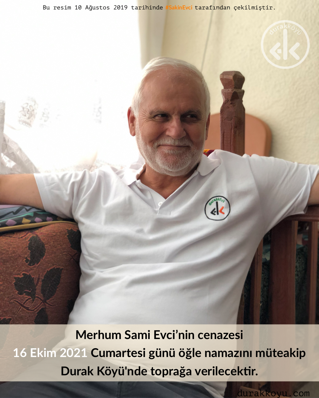 Sami Evci'nin cenazesi Cumartesi günü toprağa verilecek